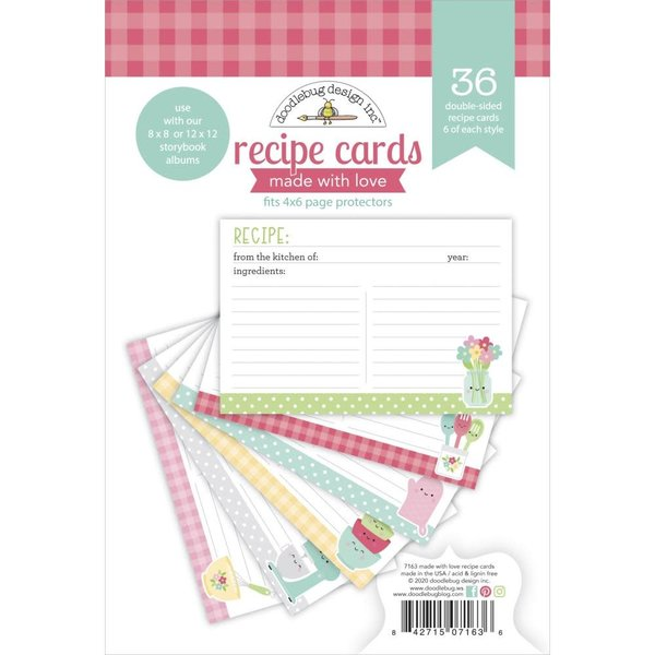 Doodlebug Paper Pad 4x6 - Made With Love (recipe cards)