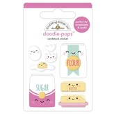 Doodlebug Doodle-Pops 3D Stickers - Made With Love (bake me happy)