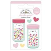 Doodlebug Doodle-Pops 3D Stickers - Made With Love (sprinkle shoppe)