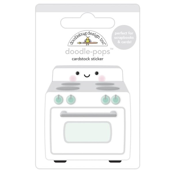 Doodlebug Doodle-Pops 3D Stickers - Made With Love (what's cookin?)