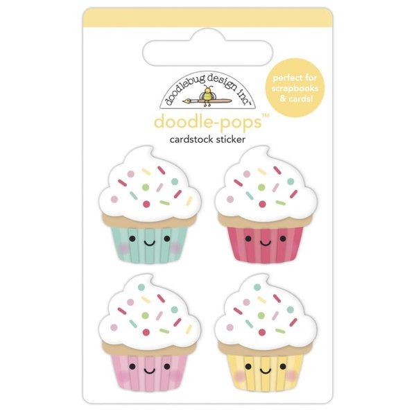 Doodlebug Doodle-Pops 3D Stickers - Made With Love (baby cakes)