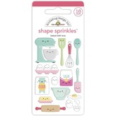 Doodlebug Sprinkle Adhesive Enamel Shapes - Made With Love (baked with love)