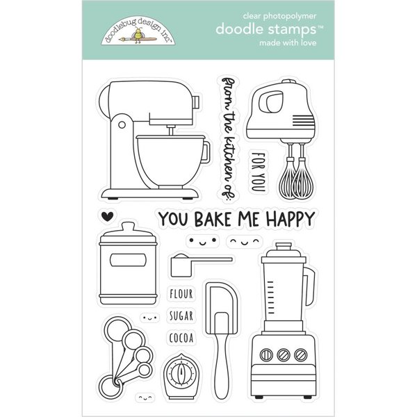 Doodlebug Clear Doodle Stamps - Made With Love