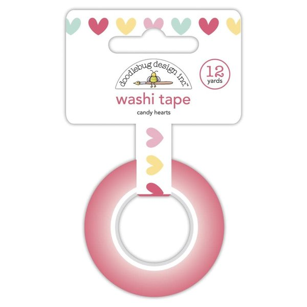 Doodlebug Washi Tape - Made With Love (candy hearts)
