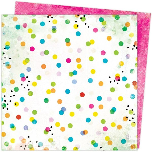 American Crafts Vicki Boutin Double-Sided Cardstock 12X12 - Color Study (dots & marks)