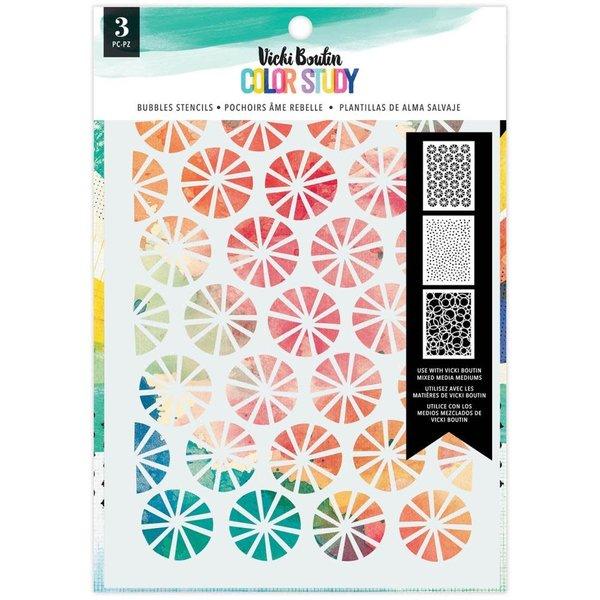 American Crafts Vicki Boutin Stencils- Color Study (bubbles)