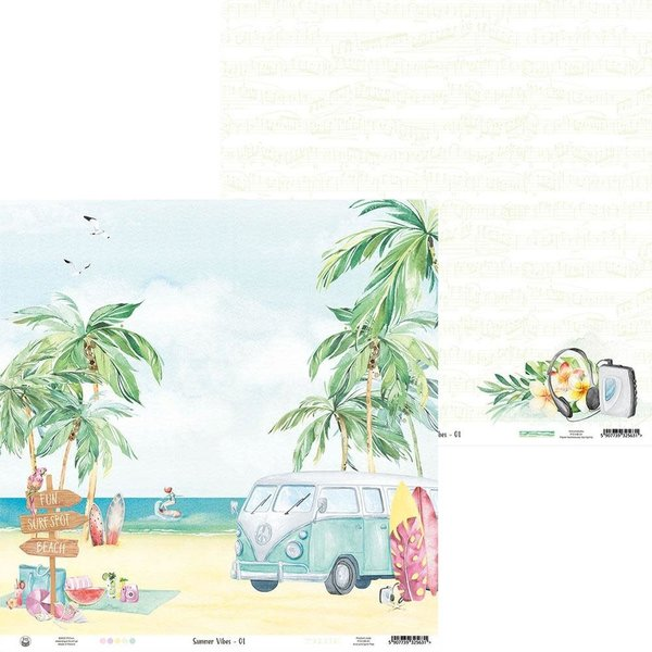 P13 Double-Sided Cardstock 12X12 - Summer Vibes (#01)