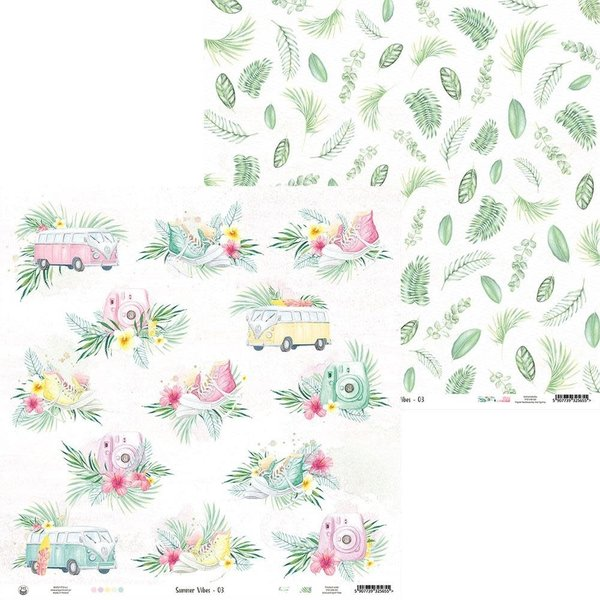 P13 Double-Sided Cardstock 12X12 - Summer Vibes (#03)