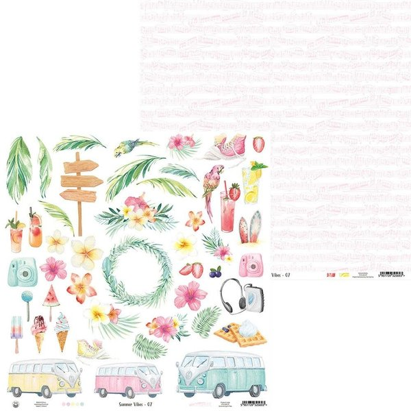 P13 Double-Sided Cardstock 12X12 - Summer Vibes (#07)