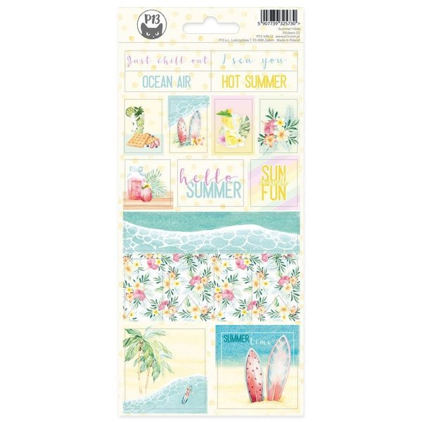 P13 Cardstock Stickers 4X9 - Summer Vibes (#02)