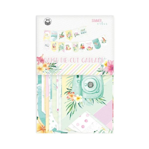 P13 Double-Sided Cardstock Die-Cuts - Summer Vibes (banner)