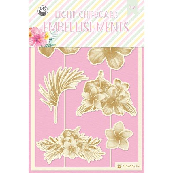 P13 Die-Cut Chipboard Embellishments 4X6-Summer Vibes (#01)