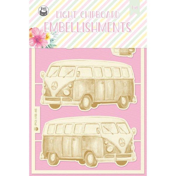 P13 Die-Cut Chipboard Embellishments 4X6-Summer Vibes (#03)