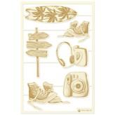 P13 Die-Cut Chipboard Embellishments 4X6-Summer Vibes (#04)