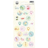P13 Cardstock Stickers 4X9 - Summer Vibes (#03)