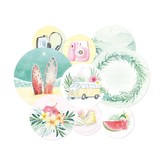 P13 Double-Sided Cardstock Tags - Summer Vibes (#01)