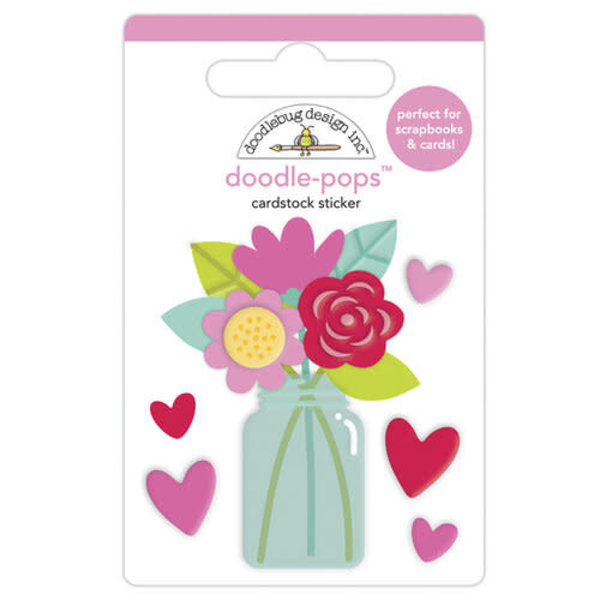 Doodlebug Doodle-Pops 3D Stickers (love you bunches)