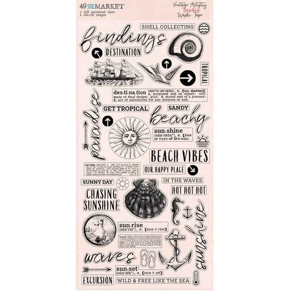 49 and Market Washi Tape (vintage artistry beached)