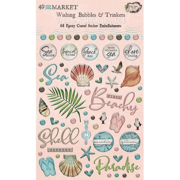 49 and Market Wishing Bubbles & Trinkets (vintage artistry beached)