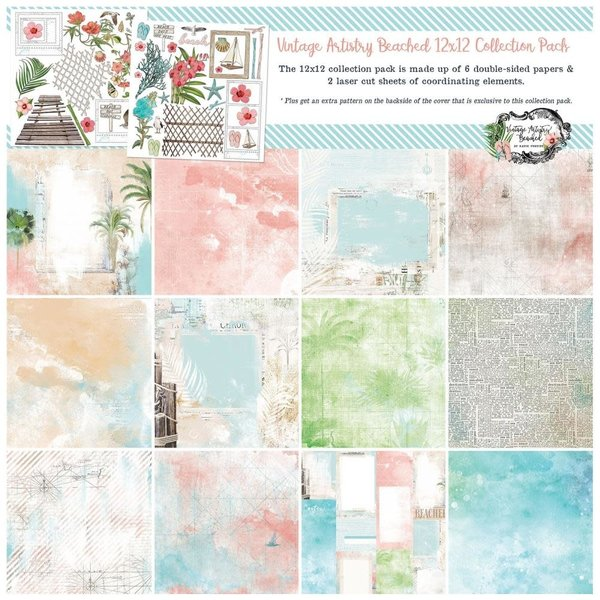 49 and Market Collection Pack 12x12 (vintage artistry beached)