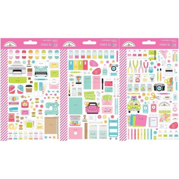 Doodlebug Mini Cardstock Stickers (cute & crafty)
