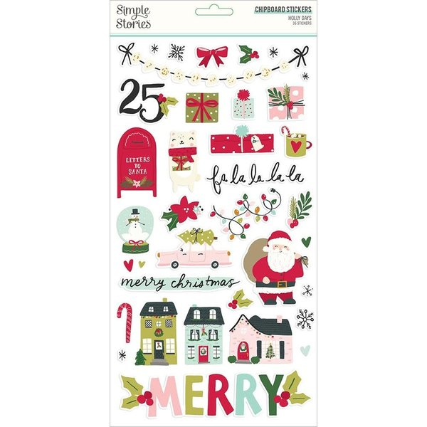 Simple Stories *PRE-ORDER* Chipboard Sticker 6x12 (holly days)