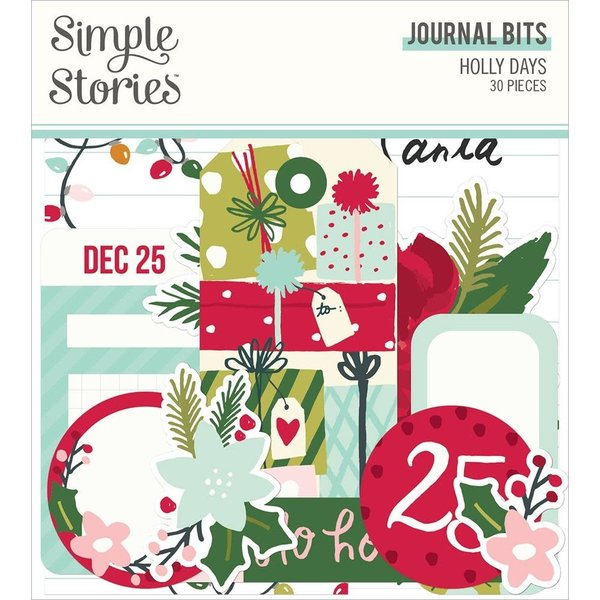 Simple Stories Bits & Pieces Die-Cuts - Holly Days (journal)