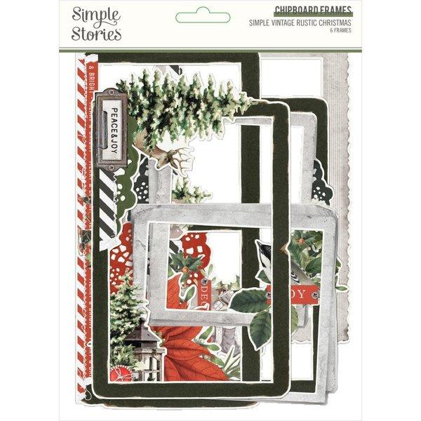 Simple Stories *PRE-ORDER* Chipboard Frames (vintage rustic christmas)