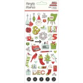 Simple Stories Puffy Stickers (make it merry)
