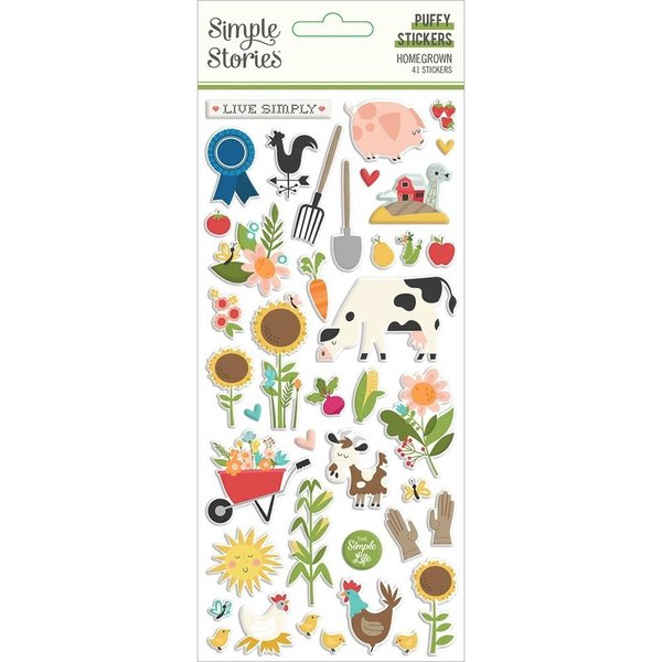 Simple Stories Puffy Stickers (homegrown)