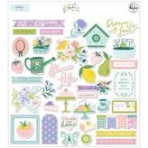 Pinkfresh Studio Ephemera Die-Cuts (happy blooms)