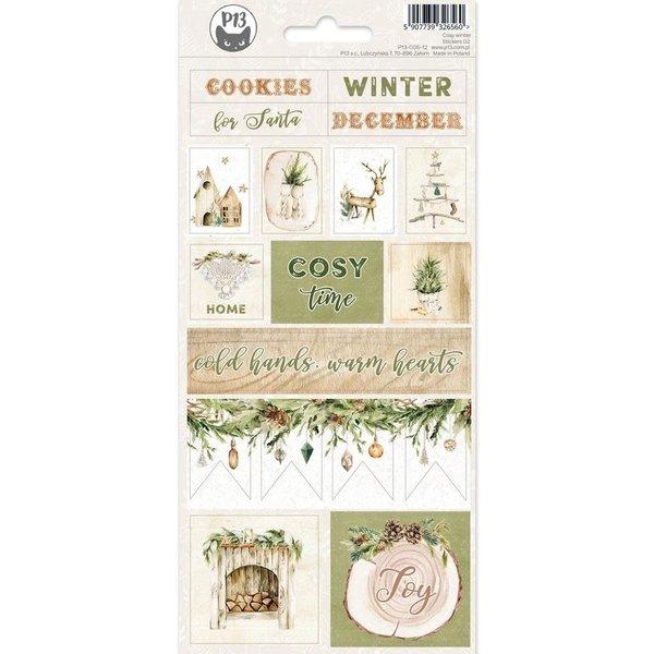 P13 Cardstock Stickers 4x9 - Cosy Winter (#2)