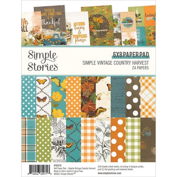 Simple Stories *PRE-ORDER* Double-Sided Paper Pad 6x8 (vintage country harvest)