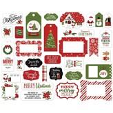Echo Park Paper Cardstock Ephemera Frames & Tags (christmas magic)