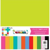 Photoplay Paper *PRE-ORDER* Collection Pack Solids 12X12 (gnome calendar)