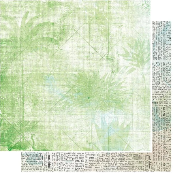 49 and Market Double-Sided Cardstock 12x12 - Vintage Artistry Beached (palm)