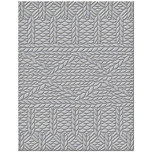 Spellbinders Embossing Folder (sweater weather)
