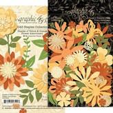 Graphic 45 Staples Flower Assortment (shades of yellow & orange)