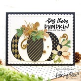 Honey Bee Stamps Clear Stamp (patchwork pumpkin)