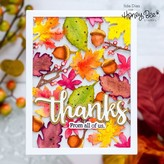 Honey Bee Stamps Honey Cuts Die (autumn splendor A2 cover plate)