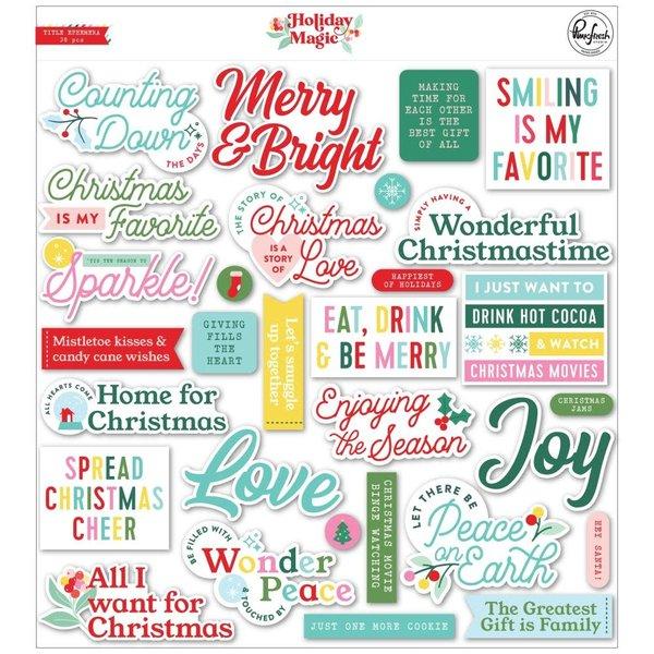 Pinkfresh Studio Cardstock Die-Cuts - Title (holiday magic)