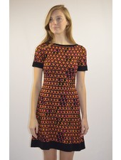 M MISSONI SHORT SLEEVE DREES IN BROWN