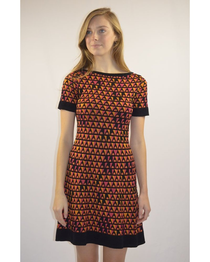 076591d8313b MISSONI TRIANGLE KNIT SHORT-SLEEVE DRESS - The Peacock Boutique