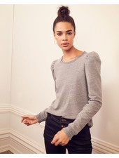 KINLY FRENCH TERRY PUFF SLEEVE SWEATSHIRT