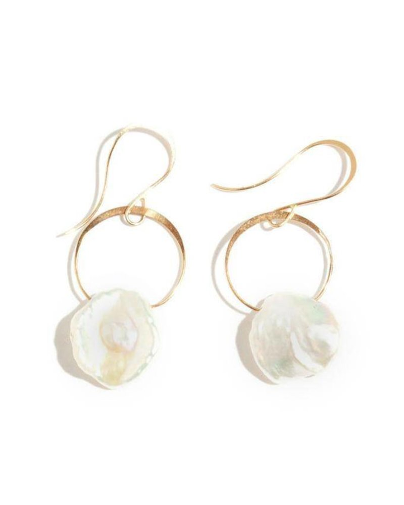 Melissa Joy Manning Gold Pearl Drop Earring The Peacock Boutique