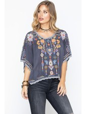 JOHNNY WAS CASPAIN CROPPED TOP