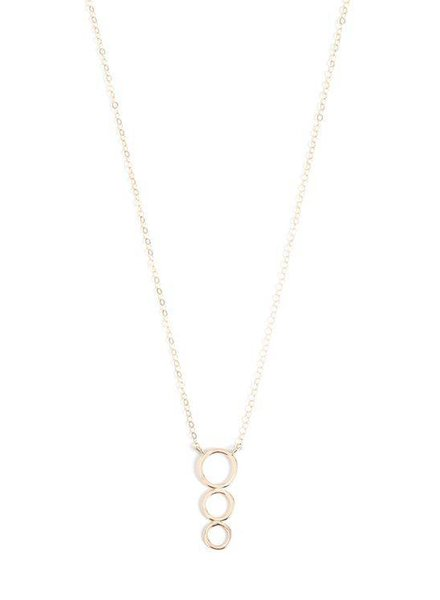 MELISSA JOY MANNING CIRCLE PENDANT DROP NECKLACE