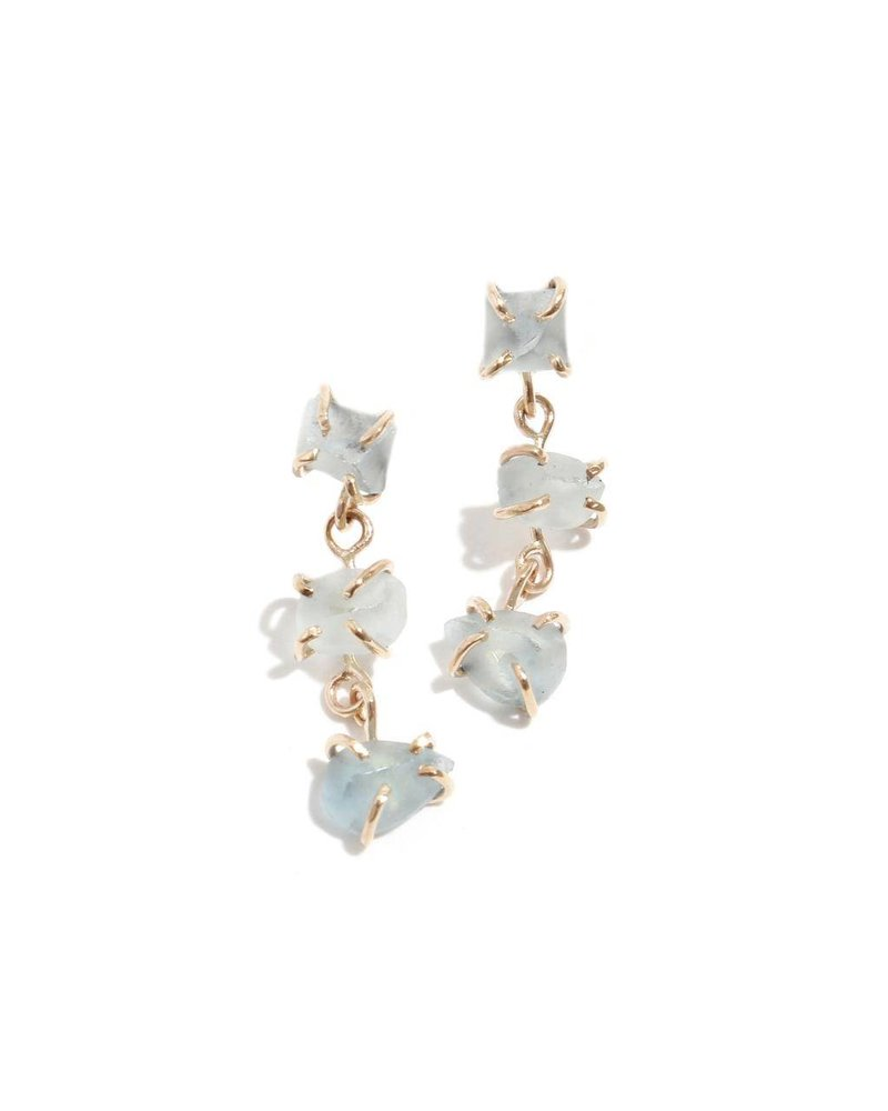 MELISSA JOY MANNING FREEFORM DROP EARRING IN AGUA