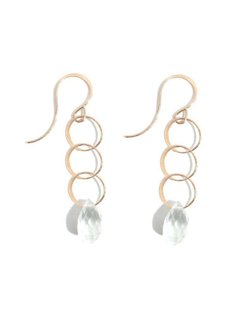 MELISSA JOY MANNING LOOP EARRING WITH WHITE TOPAZ