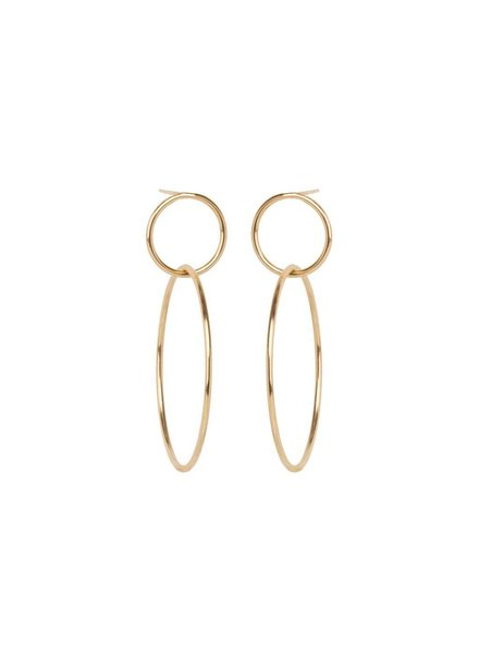 ZOE CHICCO 14K LARGE DOUBLE CIRCLE HOOP EARRINGS